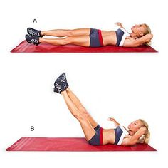 Diagonal pike legs - Get a Flat Belly in 4 Weeks - Health.com