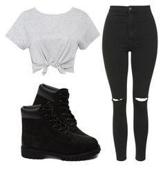 """""""."""" by kierstinthesavage on Polyvore featuring Topshop and Timberland"""