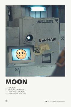 Moon alternative movie poster Visit my Store