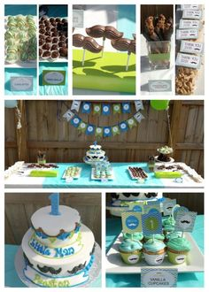 Mustache / Little Man First Birthday Party Printables