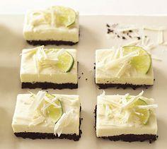 White Chocolate and Lime Cheesecake Bars