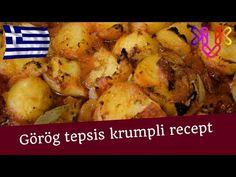 Görög tepsis krumpli recept   A legfinomabb mediterrán köret könnyen egyszerűen - YouTube
