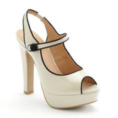 Peep-Toe Platform High Heels