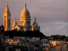 "DID YOU KNOW - Montmartre was originally named ""Mons Martis,"" meaning ""Mount of Mars."" This was later Christianized to ""Montmartre,"" or ""Mount of the Martyr."" ""Sacré-Coeur"" is a reference to the sacred heart of Jesus."
