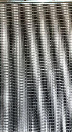 """""""Lynx"""" Black Aluminum Chain Beaded Curtain 6' Long on Metal Rod"""
