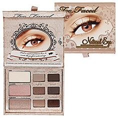 I use this palatte every single day, definitely a beauty bag essential! Too Faced - Natural Eye Neutral Eye Shadow Collection    #sephora #makeup #eyes