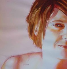 Is Art-Making a Sacred Process? | ArtistsNetwork.com #watercolor #art | Self Portrait by Sandrine Pelissier, author of Fearless Watercolor for Beginners
