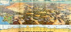 This illustrated map shows the course and topography of the Colorado River Aqueduct, which brings water from the Colorado River to the Los Angeles Basin. United Nations Peacekeeping, California History, Southern California, San Jacinto, Water Resources, Colorado River, Historical Maps, Vintage Wall Art, Image Search