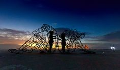 Stunning Sculpture At Burning Man Festival Shows The Inner Child Trapped Inside Every Adult Body Sculpture Burning Man, Sculpture Metal, Outdoor Sculpture, Jean Paul Sartre, Burning Man 2015, Colossal Art, Inner Child, Pics Art, Bored Panda