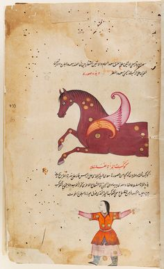 Manuscript of the 'Aja'ib al-makhluqat (Wonders of Creation) of Qazwini, with 253 paintings : manuscript, 17th century. Harvard Art Museum/Arthur M. Sackler Museum, Gift of Philip Hofer in memory of Eric Schroeder, 1972.3, Harvard University, Cambridge, Mass. Folio 29, recto (seq. 65)