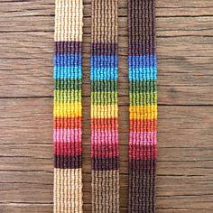 Macrame tejidas a mano colores pulsera Arco iris por Yogamoodra