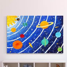 You'll love the 'Solar System Blue' by Nicola Joyner Painting Print Canvas Art at Wayfair - Great Deals on all Baby & Kids products with Free Shipping on most stuff, even the big stuff.