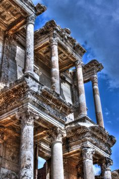 Library of the Ancients - Taking a quick break from landscapes! Library of Celsus in Ephesus, Turkey.