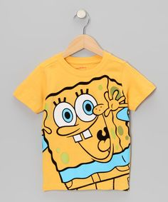 There's one surefire way to get little ones looking their best, and that's to dress them in this cool tee decorated with a best bud, SpongeBob SquarePants. An in-your-face graphic and classic crewneck cut make this top as fun to see as it is to wear. 100% cottonMachine wash; tumble dry