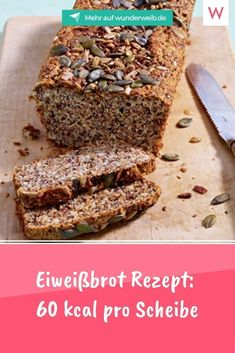 Banana Bread, Food And Drink, Fett, Healthy, Desserts, Healthy Cake, Low Calorie Bread, Protein Cake, Dinner Rolls