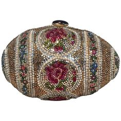 Judith Leiber Pearl Egg Swarovski Crystal Minaudiere Evening Bag TlgROOVo