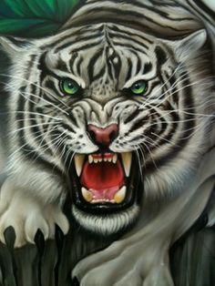 Tiger Airbrush art