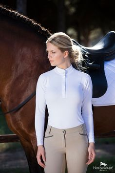Horseware Competition Collection S/S17: Sara Competition Shirt (Long Sleeve) | Ladies Competition Breeches