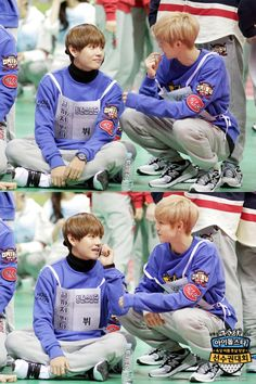 V and Mark | 2016 Idol Star Athletics Championships -> it's literally my two favorite ppl ever fuck me