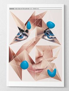 Digital art selected for the Daily Inspiration #1251 abstract woman's face in triangles.