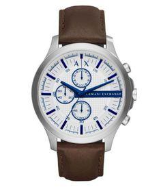 21e31adeb3b3 AX Armani Exchange Hampton Chronograph Leather-Strap Watch  Dillards Brown  Leather Strap Watch