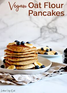 This vegan oat pancake recipe is uses simple ingredients and creates fluffy vegan gluten free pancakes with no banana in them! Full cooking video provided in the recipe card to help you make this easy vegan breakfast recipe. #Vegan #VeganRecipe #VeganBreakfast #VeganPancake #GlutenFree #GlutenFreeRecipe #DairyFree #DairyFreeRecipe #EggFree #Eggless #PlantBased #Pancake #PancakeRecipe #OatFlour #Flaxseed #EggFreeRecipe #EgglessRecipe #DairyFreeBreakfast #GlutenFreeVegan #VeganGlutenFree Vegan Pancake Recipes, Eggless Recipes, Vegan Recipes, Oat Flour Pancakes, Gluten Free Pancakes, Waffles, Sweet Potato Lentil Curry, Pancake Calories, Dairy Free Breakfasts