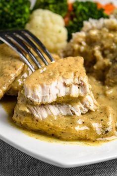 Schab w sosie musztardowym (6 składników) - Wilkuchnia Pork Recipes, Mexican Food Recipes, Healthy Dishes, Healthy Recipes, Kitchen Recipes, Cooking Recipes, Food Experiments, B Food, Best Appetizers