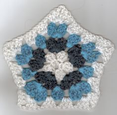 Granny Pentagon 1 of 4, crochet, 2013