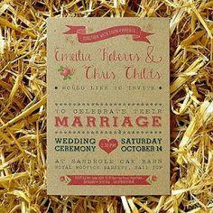 Bodas con detalle - Blog de bodas y novias: Invitaciones de boda en papel kraft