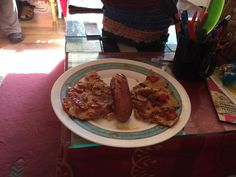 Sausage and egg butterfly omelette for breakfast by Annikki