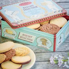 Five mouth-watering biscuit varieties from our Craft Bakery, including: - Swiss Hazelnut - Chocolate Brown Bettys - Oat & Ginger - Chocolate & Orange - Yorkshire Shortbread Presented in a charming tin designed by Yorkshire artist Emily Sutton.