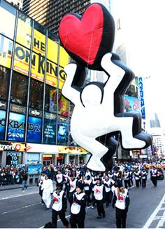Started in 2005, the Blue Sky Gallery series brings fine art to the masses in the Macy's Thanksgiving Parade.  It features recreations of famous works by some of the word's most renowned modern artists.  After the parade, the artistic balloons continue their journey as traveling exhibits.
