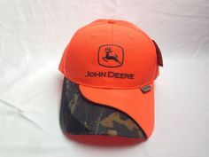 75e04635fa4 John Deere Hat Blaze Orange and Camouflage Accents Hunting Fishing New With  Tags… John Deere