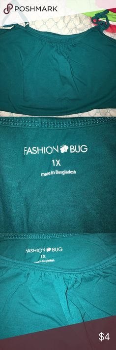 Dark Turquoise Cami Beautiful deep turquoise color, ruched top under neck, adjustable straps. Worn once or twice but still in great condition. Washed since last worn but will wash again if requested. From a smoke-free, shed-free environment. Fashion Bug Tops Camisoles