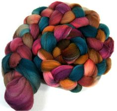 Amish Quilt 2 Falkland wool top for spinning and by yarnwench, $14.63