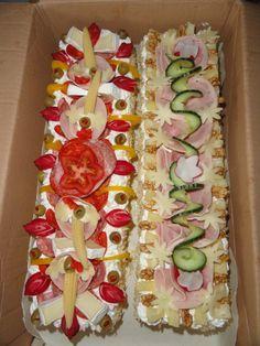 SLANÉ ŘEZY Wedding Appetizers, Finger Food Appetizers, Yummy Appetizers, Appetizer Recipes, Sandwich Cake, Sandwiches, Czech Recipes, Ethnic Recipes, Good Food