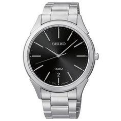 Seiko Classic Black Dial Stainless Steel Mens Watch SGEG69 $120.00