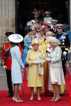 Queen Elizabeth Ii Wedding | Carole Middleton and Queen Elizabeth II Photo - Royal Wedding Arrivals