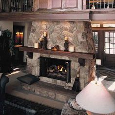 Cultured stone can be used for a variety of interior projects – fireplace surrounds, kitchen backsplashes, kitchen islands, interior columns and much more. http://www.jchuffman.com/products/stone/cultured-stone/