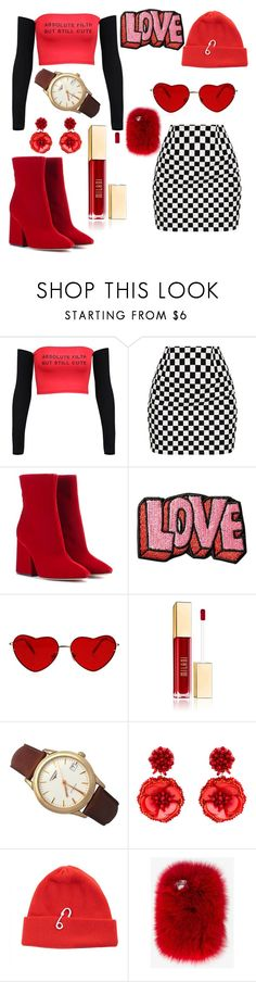 """""""Äbsolute fïlth"""" by aesthetics-daily on Polyvore featuring Maison Margiela, Stoney Clover Lane, Longines, Mignonne Gavigan, TIBI, Wild & Woolly, white, black, red and aesthetic"""