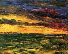 Autumn Sea V Emile Nolde - 1910