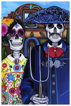 Mex Am Gothic by Melody Smith Tattoo Fine Art Print Sugar Skull Day of the Dead…