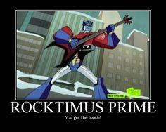 Optimus Prime Transformers Rockin Out