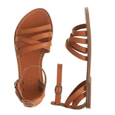 J.Crew - Girls' strappy leather sandals....IN sparkly Blue