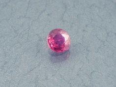 Ruby: 0.27ct Red Round Shape Gemstone Natural Hand by MJGEMSTONES