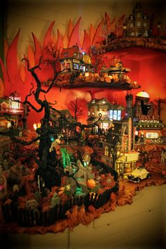Halloween Village Display / Dept. 56 Halloween Display / - My Scary Halloween Hauntsville Village 2011