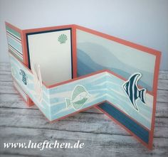 Lüftchen Stempelstudio Bergedorf: Doppelte Z-fold Card mit Seaside Shore