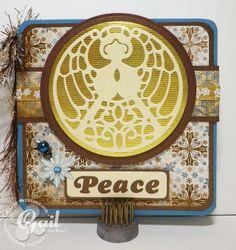 Gail - Angel Whispers and Mermaid Font make an elegant card.