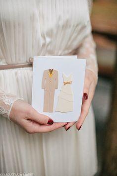 Bride and Groom - 3D Handmade Card