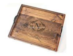 Monogrammed Wooden Ottoman Tray Monogrammed by BridgewoodPlace, $75.00